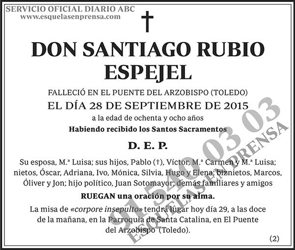 Santiago Rubio Espejel